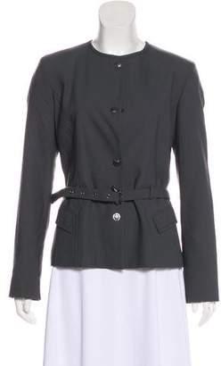 Versace Wool-Blend Casual Jacket