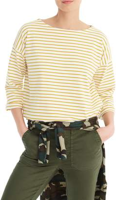 J.Crew Striped Tee with Grosgrain Trim