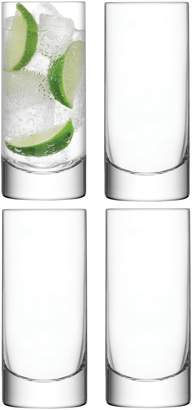LSA International Set of 4 Bar Highball Glasses