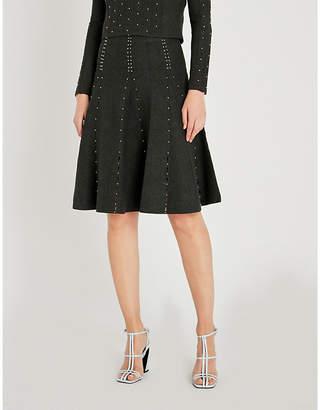 Sandro Embellished knitted skirt