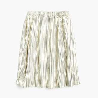J.Crew Girls' metallic micropleat skirt