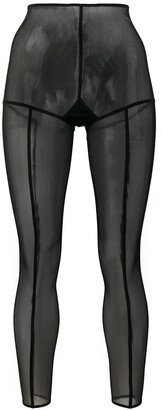 Ann Demeulemeester footless solid stripe tights