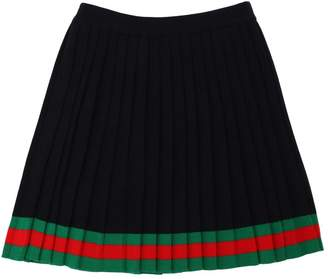 Gucci Pleated Wool Knit Skirt