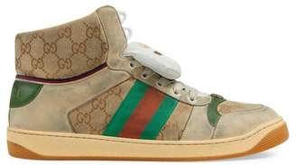 Gucci Men's Screener GG high-top sneaker