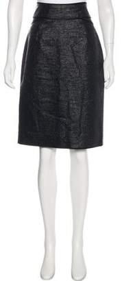 Zac Posen Metallic Knee-Length Skirt