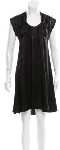 Miu MiuMiu Miu Satin Knee-Length Dress