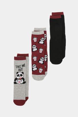 Ardene Panda Crew Socks