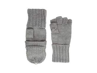 Calvin Klein Lurex Textured Flip Top Gloves