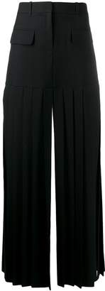 Vera Wang fitted pleated skirt