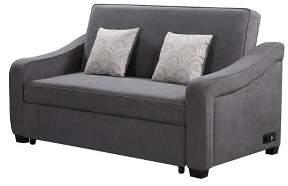 Serta 3 Seat Harlem Convertible Sofa Queen Gray