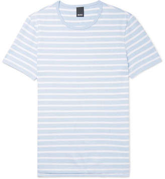 HUGO BOSS Tessler Slim-Fit Striped Cotton-Jersey T-Shirt