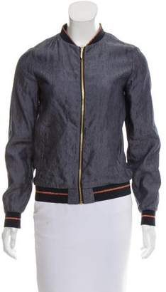 Ted Baker Metallic Trimmed Chambray Jacket