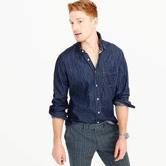 Lightweight denim shirt in dark wash