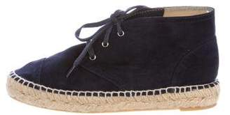 Chanel Suede Espadrille Sneakers