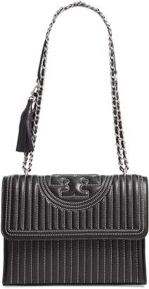 Tory Burch Fleming Mini Stud Leather Convertible Shoulder Bag