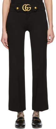Gucci Black GG Marmont Belt Trousers