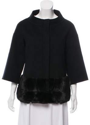 J. Mendel Wool & Cashmere-Blend Fur-Trimmed Coat