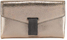 Brunello Cucinelli City Metallic Leather Crossbody Bag