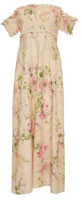 Zimmermann Iris Shirred Bodice Long Dress