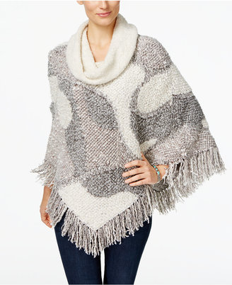 INC International Concepts Cowl-Neck Poncho, Only at Macy's $119.50 thestylecure.com