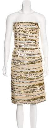 Marc Jacobs Embellished Strapless Dress