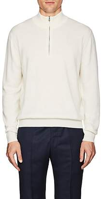 Barneys New York Men's Cashmere Quarter-Zip Sweater - Cream