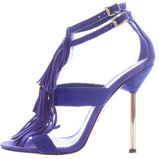 B Brian Atwood Suede Fringe Sandals $125 thestylecure.com