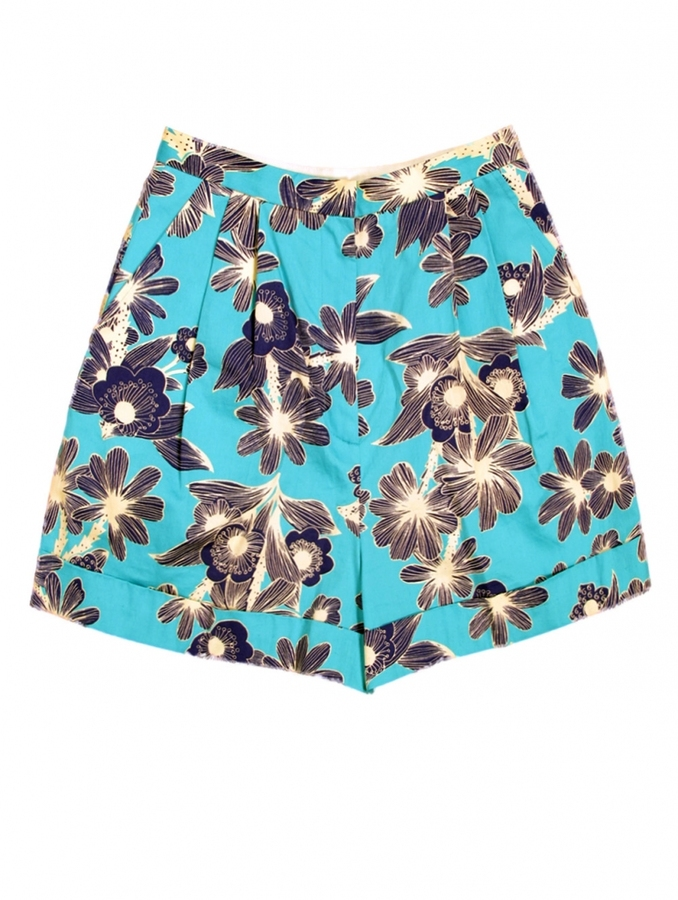 Karen Walker Cuff Shorts