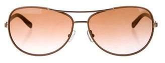 Tory Burch Tinted Aviator Sunglasses