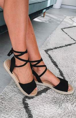 Therapy Dauphin Sandals Black Suede