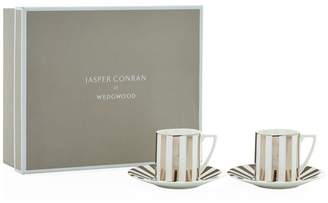 Jasper Conran At Wedgwood Platinum Espresso Cup And Saucer Gift Box (Set of 2)