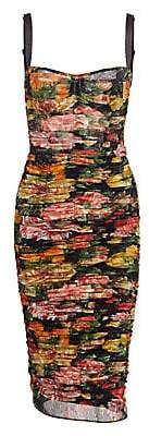 Dolce & Gabbana Dolce& Gabbana Dolce& Gabbana Women's Sleveless Tulle Floral Dress