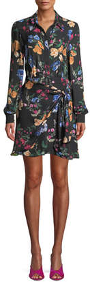 Parker Ora Floral Long-Sleeve Mini Dress