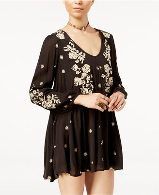 Free People Sweet Tennessee Printed Mini Shift Dress $148 thestylecure.com