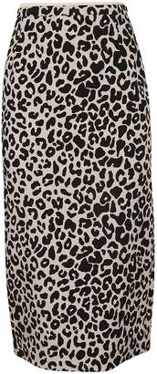 N°21 Leopard Print Pencil Skirt