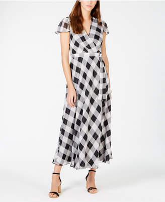 INC International Concepts I.N.C. Printed Faux-Wrap Midi Dress, Created for Macy's
