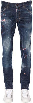 DSQUARED2 16.5cm Cool Guy Floral Denim Jeans