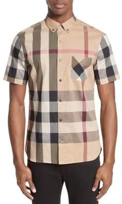 Burberry Thornaby Trim Fit Check Sport Shirt