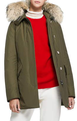 Woolrich Arctic Down Parka with Genuine Coyote Fur Trim