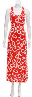 Diane von Furstenberg Silk Printed Maxi Dress