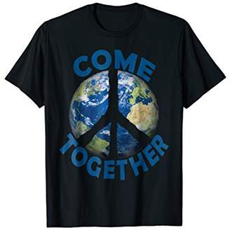 Come Together Earth Love World Peace Sign Activist T-Shirt