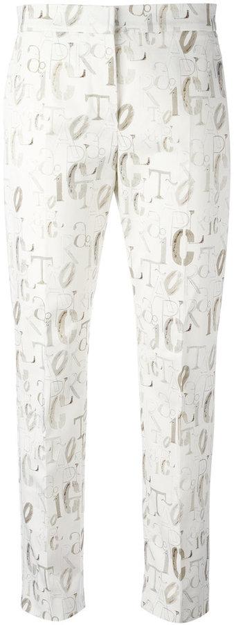 Max MaraMax Mara lettering print cropped trousers