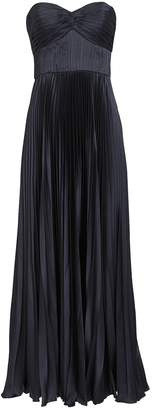 AMUR Belle Satin Pleated Gown