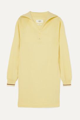 Etoile Isabel Marant Dita Stretch-knit Mini Dress - Pastel yellow