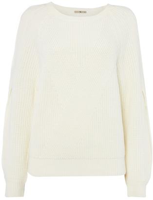 Tu clothing Cream Double Cold-Shoulder Jumper