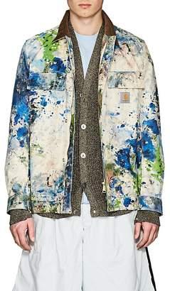 Junya Watanabe Comme des Garçons Men's Paint Splatter Cotton Canvas Jacket