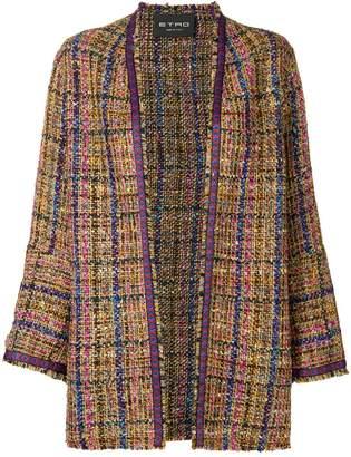 Etro open tweed jacket