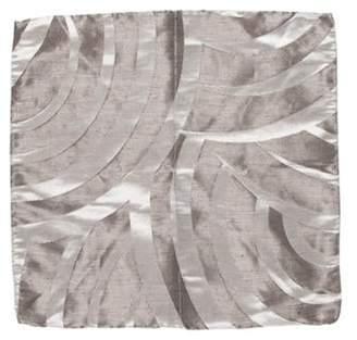 Giorgio Armani Woven Pocket Square silver Woven Pocket Square