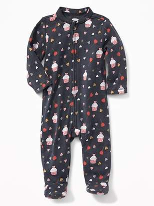 Old Navy Valentine's Day-Print Footed Sleeper for Baby