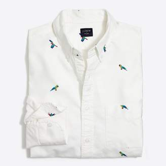 J.Crew Factory Slim flex printed oxford shirt